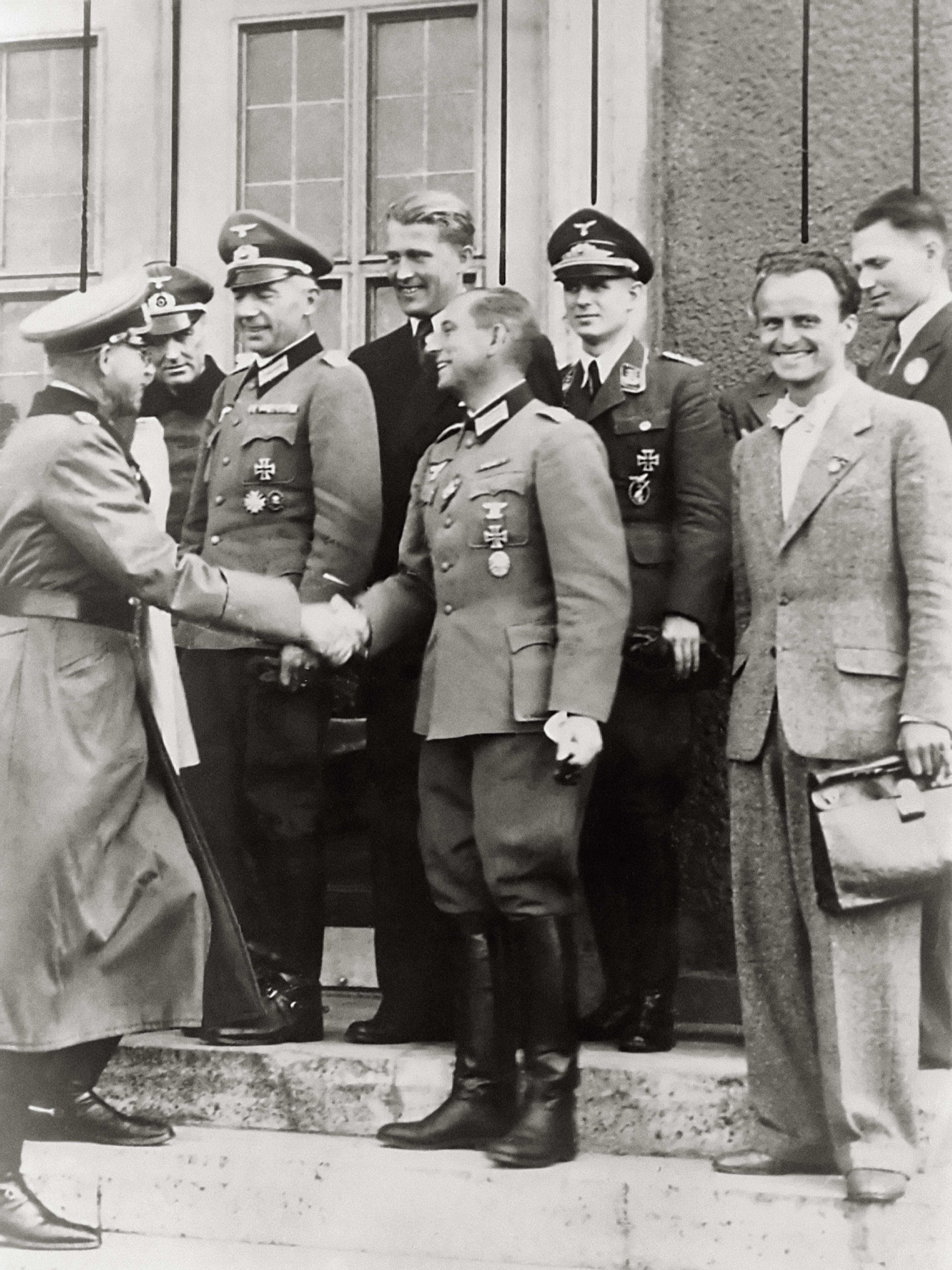 Nazi Brass Congratulates Werner Von Braun, Walter Dornberger, Rudolph Herman 1942