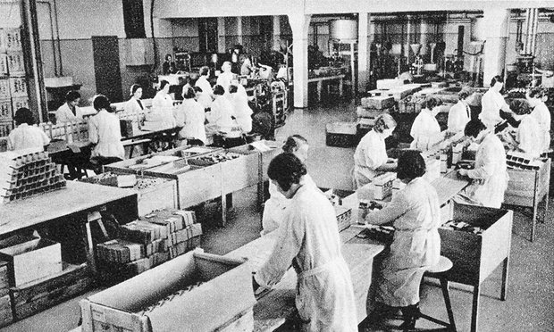 Temmier Pharma workers Packing Pervitin for German Army & Luftwaffe