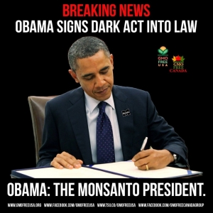 Obama signs Dark Act