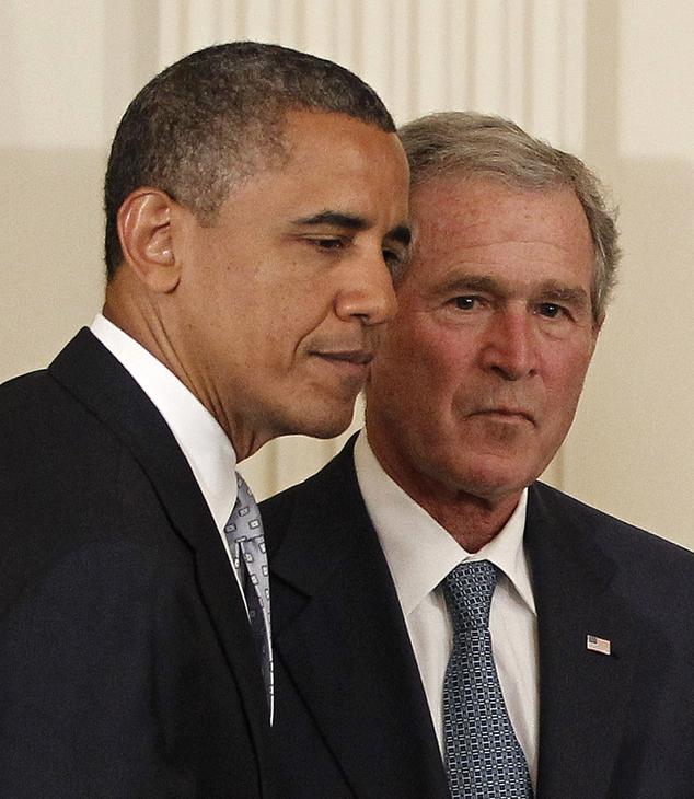 Presidents Barak Obama & George W. Bush