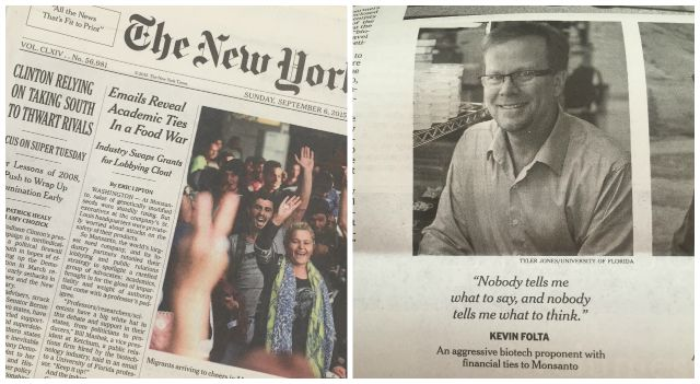NYT Expose_Kevin Folta